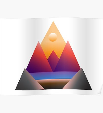 Triangles for days • Morning View Poster