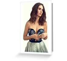 Alison Brie Greeting Card