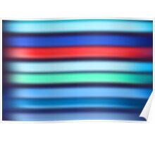 Canvas Art - Digital Background - Blue Striped Poster