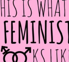 This is what a feminist feminist looks like Sticker
