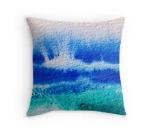 Sea Spray in Turquoise and Teal Throw Pillow