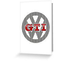 VW GTI Pattern Greeting Card