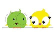 Two cute birds in love by berlinrob