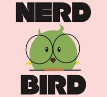 Nerd Bird with glasses Baby Tee