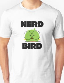 Nerd Bird with glasses Unisex T-Shirt