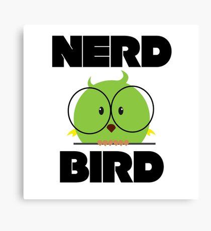 Nerd Bird with glasses Canvas Print