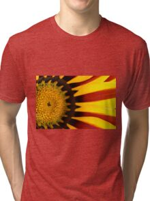 Red and yellow daisy Tri-blend T-Shirt