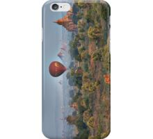 Ballons ride over temples of Bagan iPhone Case/Skin