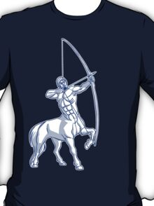 White and Blue Centaur Aiming High T-Shirt by Cheerful Madness!! T-Shirt