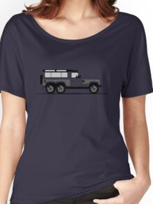 A Graphical Interpretation of the Defender 90 Station Wagon Flying Huntsman 6x6 Women's Relaxed Fit T-Shirt