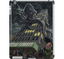 Monster Octopus attacking building in storm iPad Case/Skin