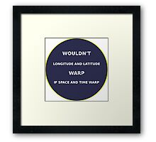 Science - Space Warp Framed Print