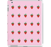 Strawberry Patch : Fruit Berry Pink Pattern iPad Case/Skin
