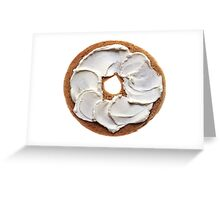 Bagel with Cream Cheese  Greeting Card