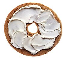 Bagel with Cream Cheese  Photographic Print