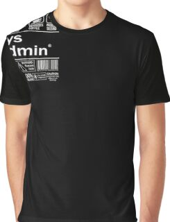 System administrator Funny T Shirt Unix Linux Beer Coffee Graphic T-Shirt