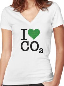 CO2 Women's Fitted V-Neck T-Shirt