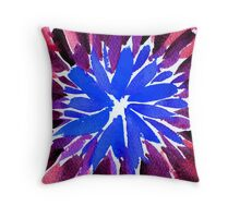 Amethyst and Cobalt Floral Motif  Throw Pillow