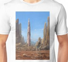 Old Saturn V rocket in desert Unisex T-Shirt