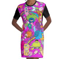 PSYCHEDELIA Graphic T-Shirt Dress