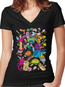 PSYCHEDELIA Women's Fitted V-Neck T-Shirt