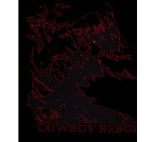 Cowboy Bebop: Spike in Motion Red T-Shirt Photographic Print
