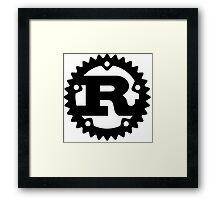 Rust Programming Language Logo Framed Print