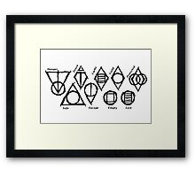 Skyrim Shadowmarks Framed Print