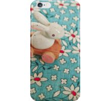 Bunny on Blue iPhone Case/Skin