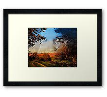 。◕‿◕。 FALL -A FACE OF VISION。◕‿◕。  Framed Print