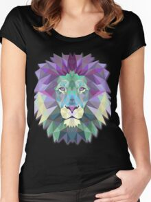 Lion Animals Women's Fitted Scoop T-Shirt