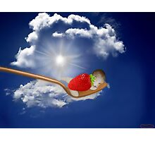 """(◡‿◡✿) (◕‿◕✿) Strawberry Delight """"Life Is Sweet"""" (◡‿◡✿) (◕‿◕✿) Photographic Print"""