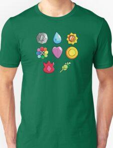 Pokemon Gen 1 Gym Badges T-Shirt