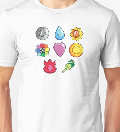 Pokemon Gen 1 Gym Badges Unisex T-Shirt