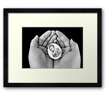 ▂ ▃ ▅ ▆ █ HOLDING  MY PRECIOUS LITTLE EGG WITH ATTITUDE █ ▆ ▅ ▃ Framed Print