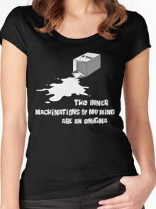The inner machinations of my mind are an enigma Women's Fitted Scoop T-Shirt