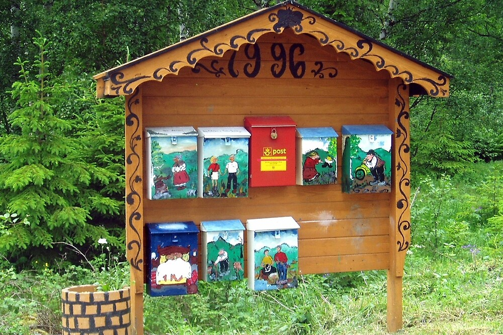 Norwegian letterboxes by Arie Koene
