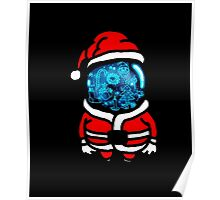 Christmas Space T-shirt Poster