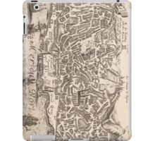 Vintage Pictorial Map of New York City (1672) iPad Case/Skin
