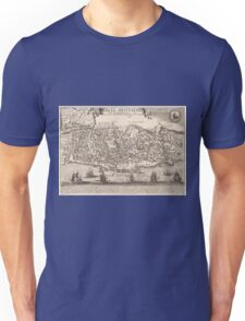 Vintage Pictorial Map of New York City (1672) Unisex T-Shirt