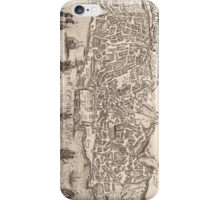 Vintage Pictorial Map of New York City (1672) iPhone Case/Skin