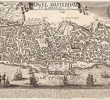 Vintage Pictorial Map of New York City (1672) by BravuraMedia