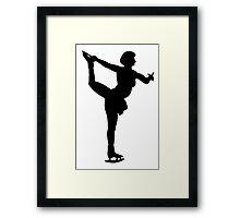 Figure Skate Silhouette Framed Print