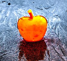 Apple on the Beach by AlexFHiemstra