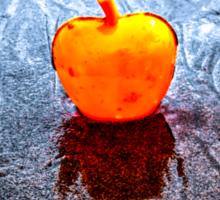 Apple on the Beach Sticker