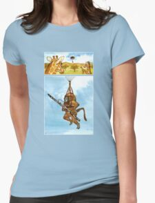 A Baboon Plays Bassoon From Balloons Womens Fitted T-Shirt