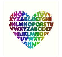 ABC heart Art Print