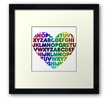 ABC heart Framed Print