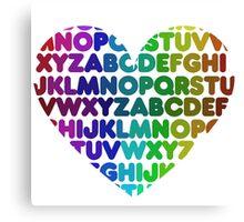 ABC heart Canvas Print