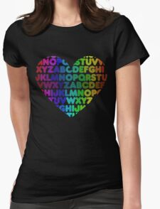 ABC heart Womens Fitted T-Shirt